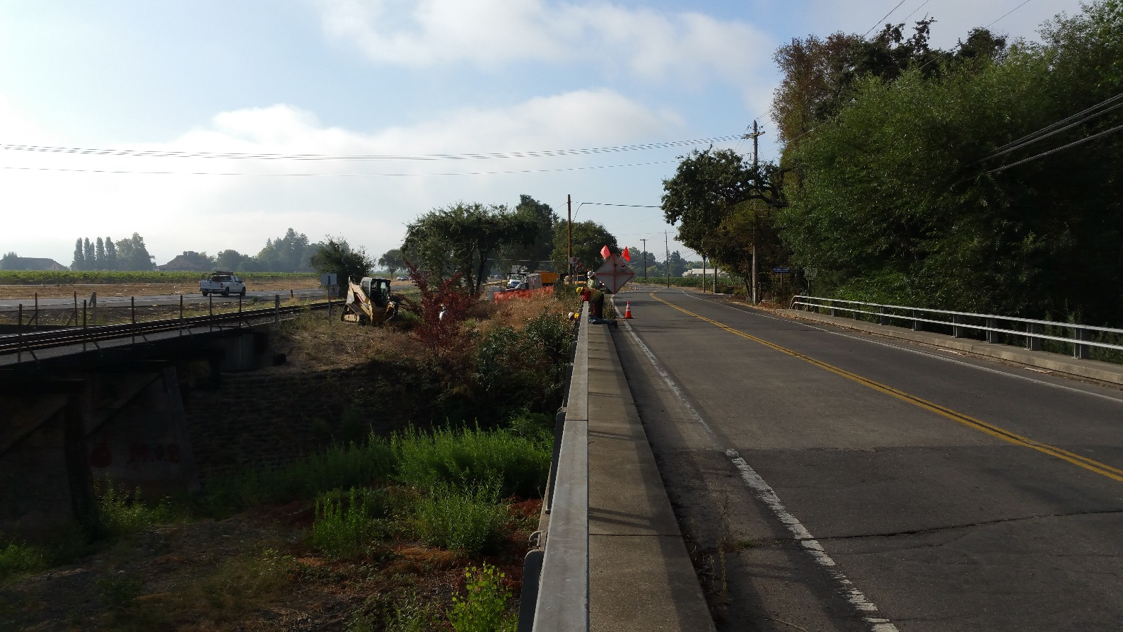 Preparatory Work at Solano Avenue Drycreek Bridge